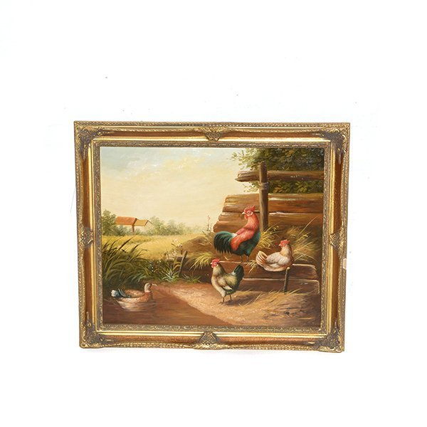 """Framed Oil on Board H 24 1/2"""" x 29"""""""