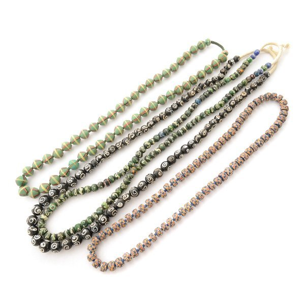 Collection of Four Venetian Trade Bead Necklaces.