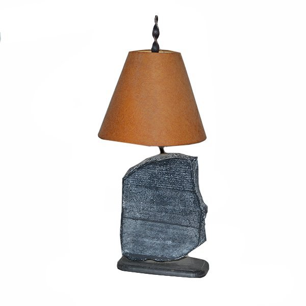 "Ancient Writing in Stone Table Lamp H24"" x L11"" x D5"""