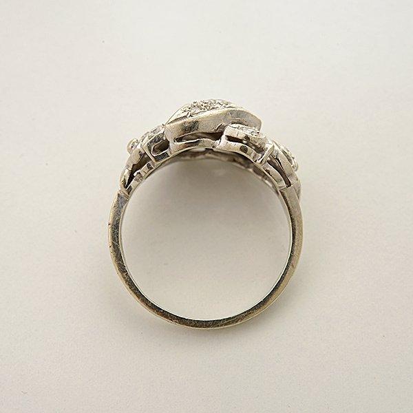 Diamond, 14k White Gold Ring. - 3