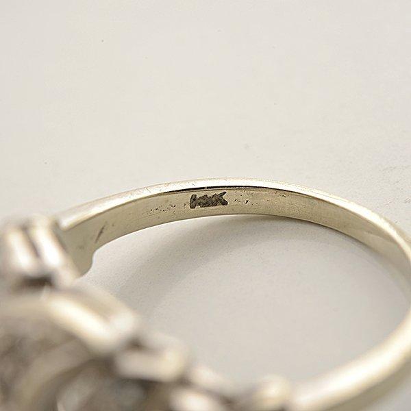 Diamond, 14k White Gold Ring. - 4