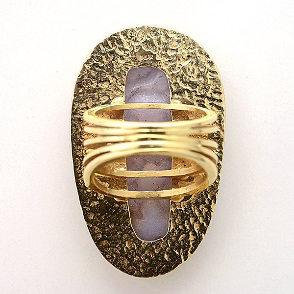 Lavender Jade, 14k Yellow Gold Ring. - 4