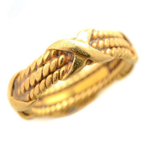 Tiffany & Co. Schlumberger 18k Yellow Gold Band.