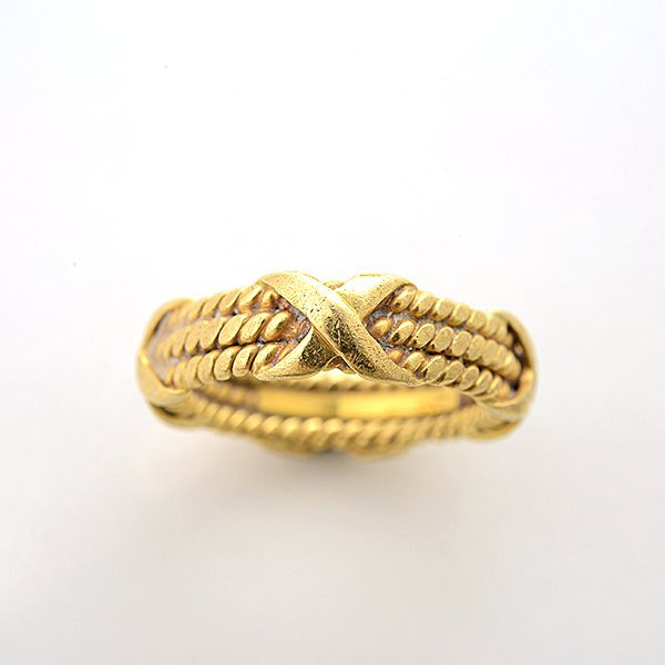 Tiffany & Co. Schlumberger 18k Yellow Gold Band. - 2