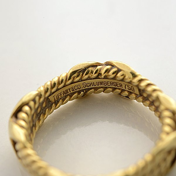 Tiffany & Co. Schlumberger 18k Yellow Gold Band. - 4