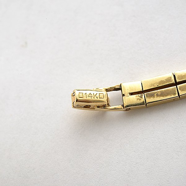 Ladies Retro Movado Citrine, Diamond, 14k Yellow Gold - 5