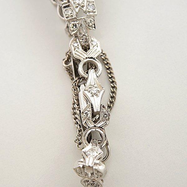 Ladies Hamilton Art Deco Diamond, Platinum Wristwatch. - 4
