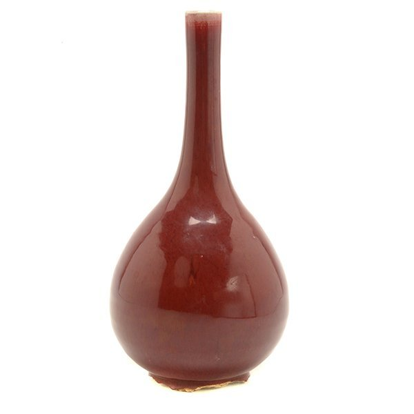An Oxblood Glazed Bottle Vase, 19th C.