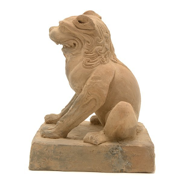 A Pottery Figure of a Guardian Lion, Five Dynasties - 2