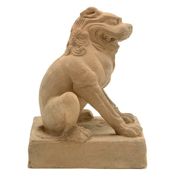 A Pottery Figure of a Guardian Lion, Five Dynasties - 4