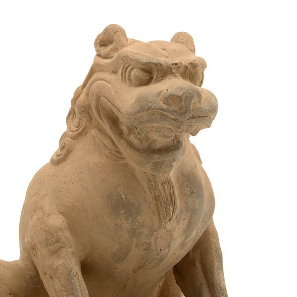 A Pottery Figure of a Guardian Lion, Five Dynasties - 5