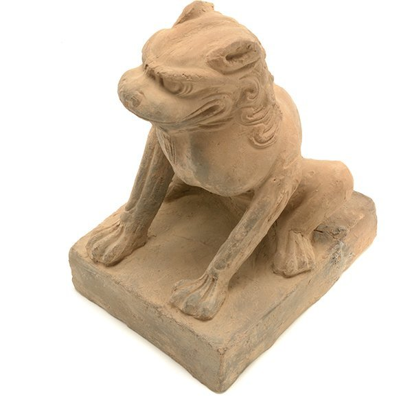 A Pottery Figure of a Guardian Lion, Five Dynasties - 8