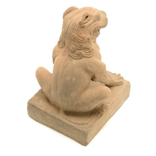 A Pottery Figure of a Guardian Lion, Five Dynasties - 9