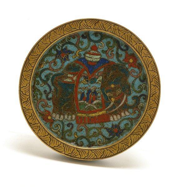A Cloisonn Enamel Circular Box and Cover, 19th C. - 6