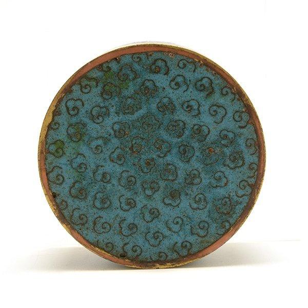 A Cloisonn Enamel Circular Box and Cover, 19th C. - 7