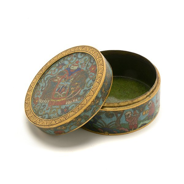 A Cloisonn Enamel Circular Box and Cover, 19th C. - 8