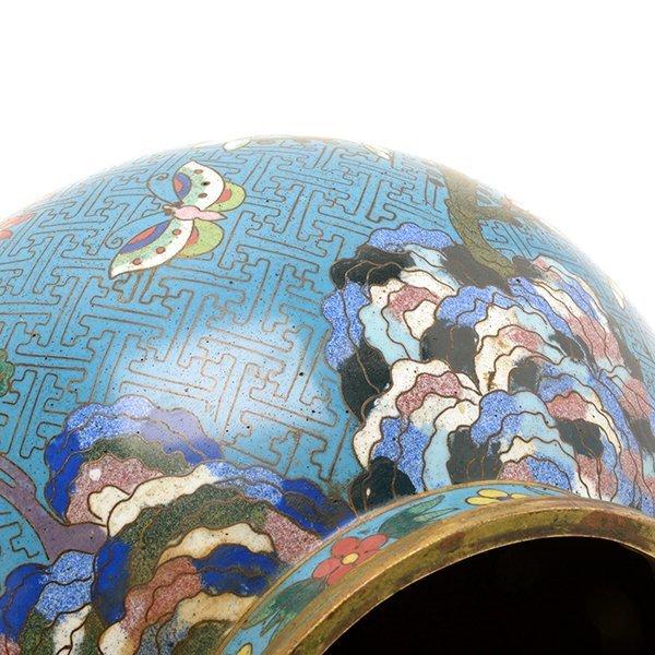 A Cloisonn Enamel Vase, Late 18th/Early 19th C. - 10