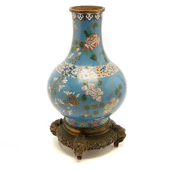 A Cloisonn Enamel Vase, Late 18th/Early 19th C.