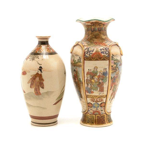 Two Small Japanese Satsuma Vases, Meiji Period - 2