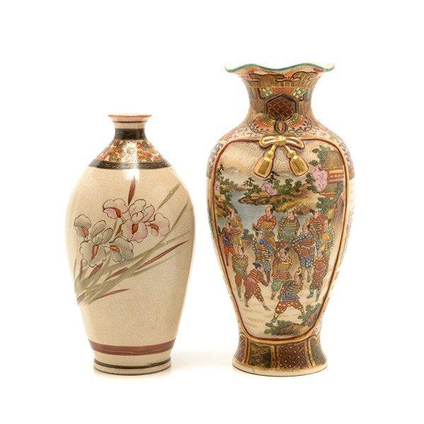 Two Small Japanese Satsuma Vases, Meiji Period - 3
