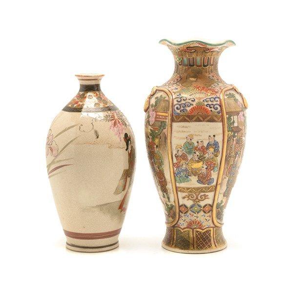 Two Small Japanese Satsuma Vases, Meiji Period - 4