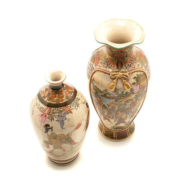 Two Small Japanese Satsuma Vases, Meiji Period - 5