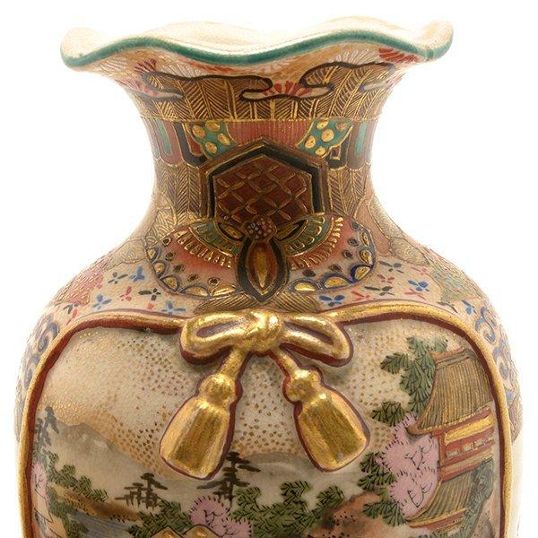 Two Small Japanese Satsuma Vases, Meiji Period - 7