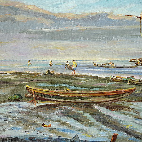 "ELIAS LAXA ""House on Stilts with Boats"" & ""Village - 4"