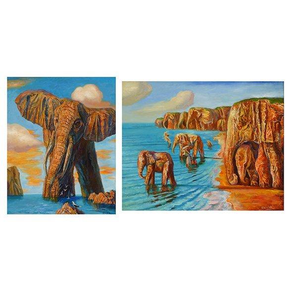 """ALEXANDER KANCHIK """"Elephant Rock"""" and """"Elephant Cliffs"""""""
