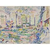 "JOSEPH RAPHAEL ""Camogile"" Watercolor on Paper."