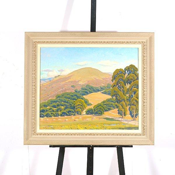 "ARTHUR HILL GILBERT ""California Hills"" Oil on Canvas. - 4"