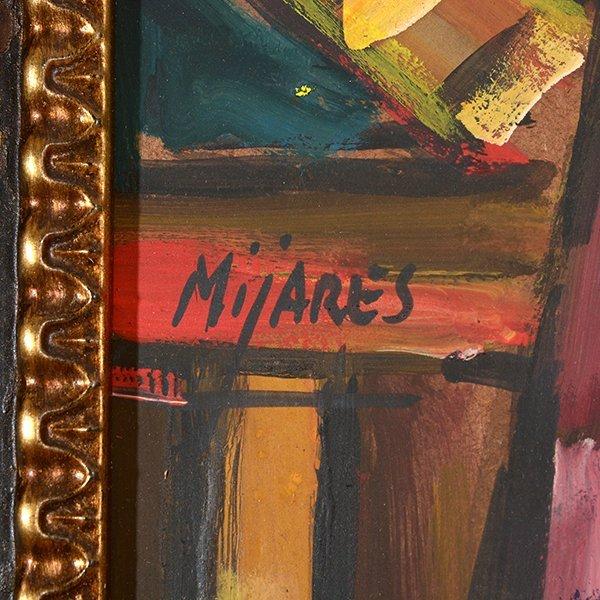 "JOSE MIJARES FERNANDEZ ""Untitled"" Oil on Masonite. - 2"