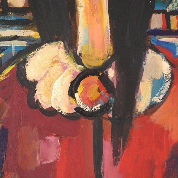 "JOSE MIJARES FERNANDEZ ""Untitled"" Oil on Masonite. - 4"