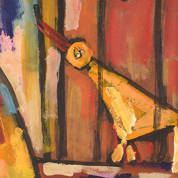 "JOSE MIJARES FERNANDEZ ""Untitled"" Oil on Masonite. - 6"