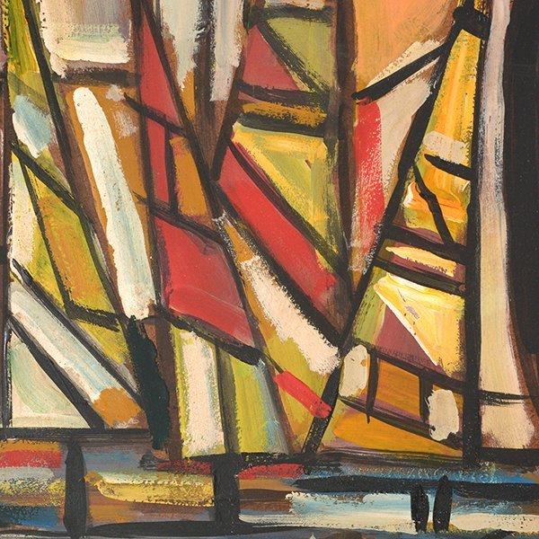 "JOSE MIJARES FERNANDEZ ""Untitled"" Oil on Masonite. - 7"