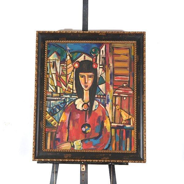 "JOSE MIJARES FERNANDEZ ""Untitled"" Oil on Masonite. - 8"