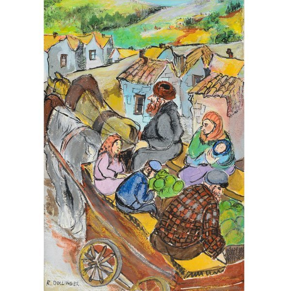"""RENATE DOLLINGER """"Family Traveling to Market"""" Mixed"""