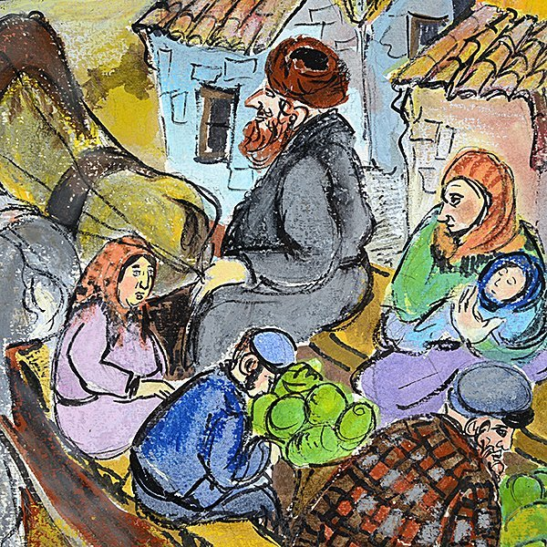 """RENATE DOLLINGER """"Family Traveling to Market"""" Mixed - 3"""