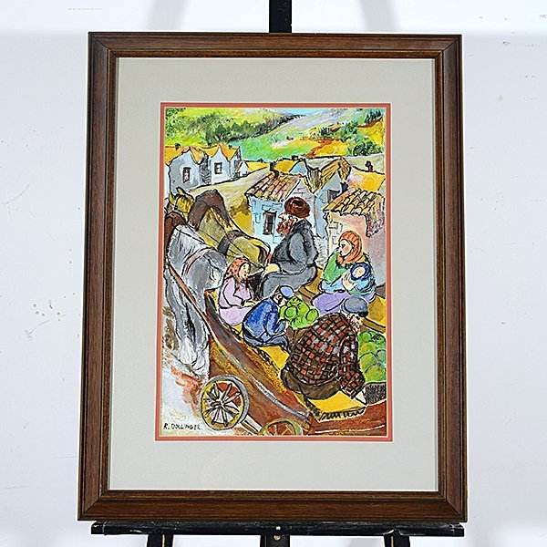 """RENATE DOLLINGER """"Family Traveling to Market"""" Mixed - 4"""