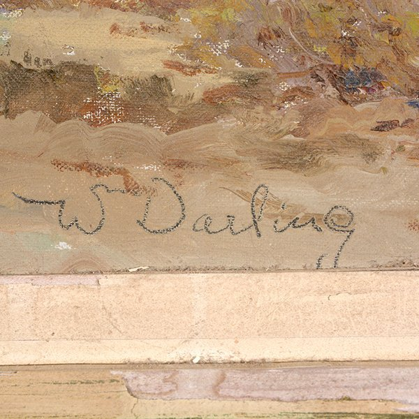 """WILLIAM DARLING """"Desertscape"""" Oil on Canvas Laid on - 2"""