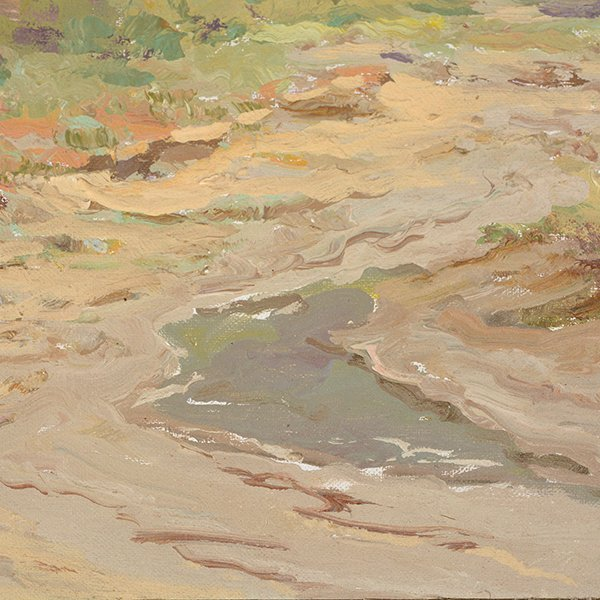 """WILLIAM DARLING """"Desertscape"""" Oil on Canvas Laid on - 3"""
