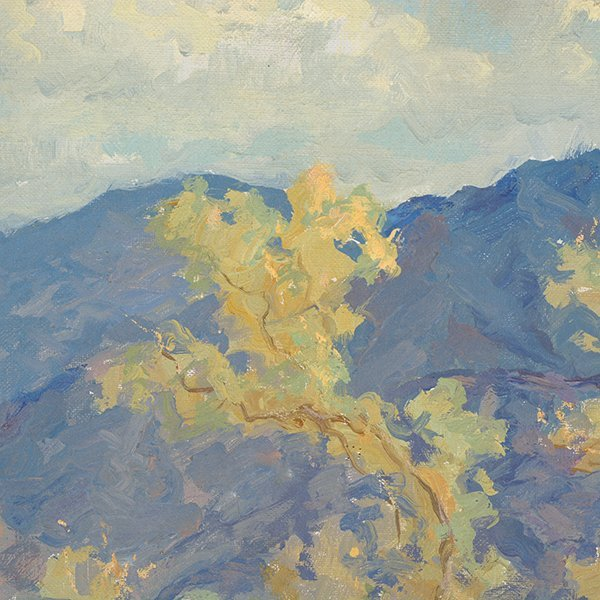 """WILLIAM DARLING """"Desertscape"""" Oil on Canvas Laid on - 5"""