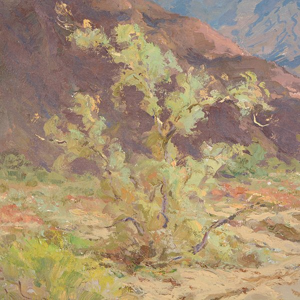 """WILLIAM DARLING """"Desertscape"""" Oil on Canvas Laid on - 6"""