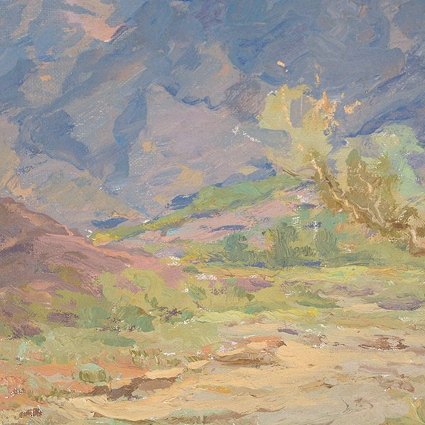 """WILLIAM DARLING """"Desertscape"""" Oil on Canvas Laid on - 7"""