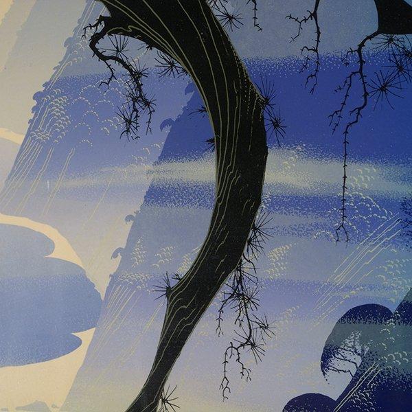 "EYVIND EARLE ""Mystical Fog"" Serigraph. - 3"