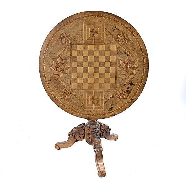 Italian Marquetry Circular Gaming Table - 4