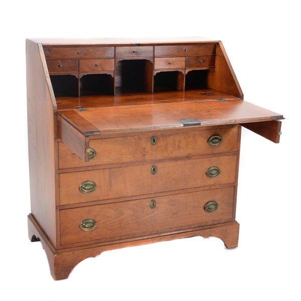 American Chippendale Cherry Slant Front Desk
