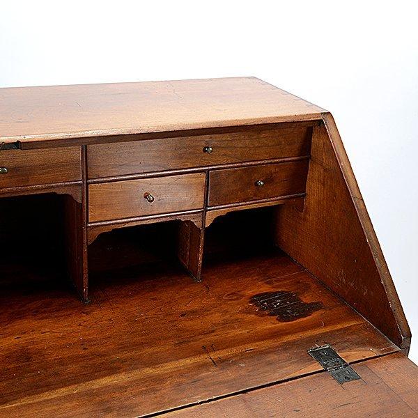 American Chippendale Cherry Slant Front Desk - 2