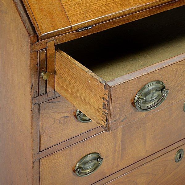 American Chippendale Cherry Slant Front Desk - 4