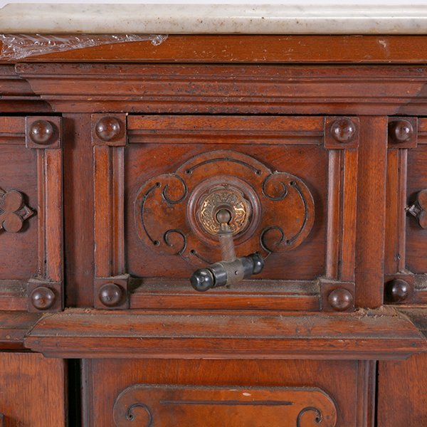 Victorian Renaissance Revival Marble Top Sideboard - 4